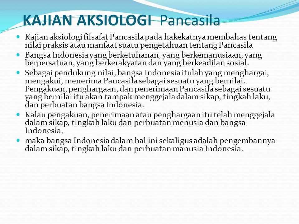 KAJIAN AKSIOLOGI Pancasila