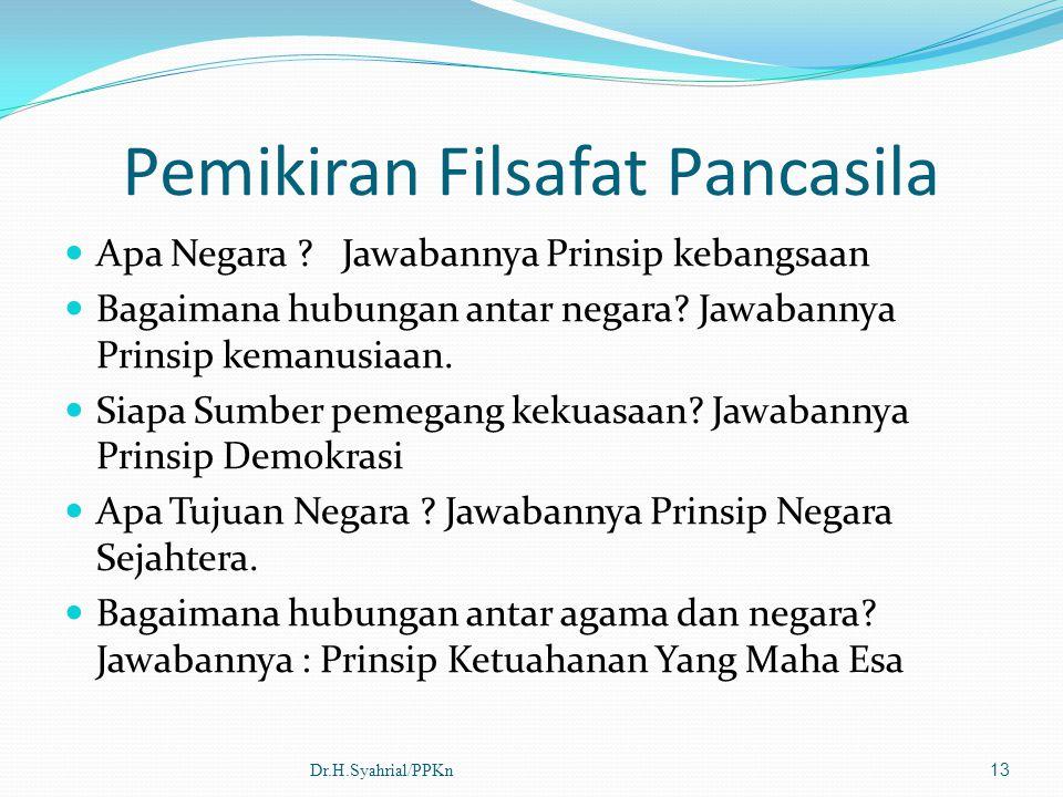 Pemikiran Filsafat Pancasila