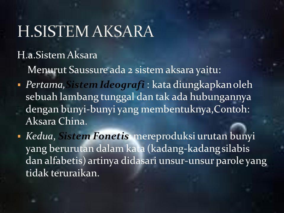 H.SISTEM AKSARA H.a.Sistem Aksara