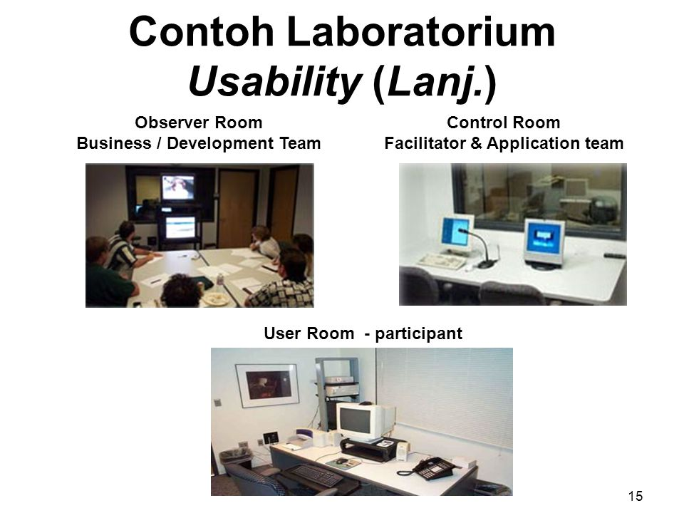 Contoh Laboratorium Usability (Lanj.)
