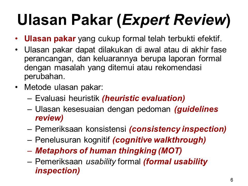 Ulasan Pakar (Expert Review)