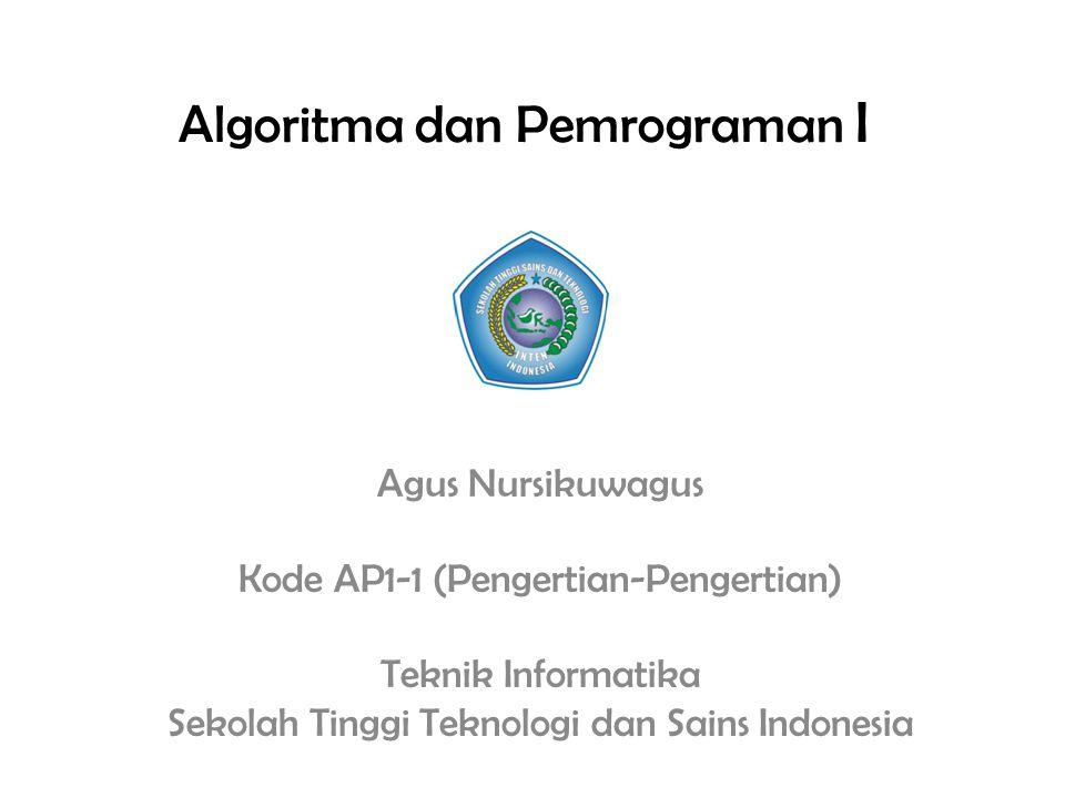 Algoritma dan Pemrograman I