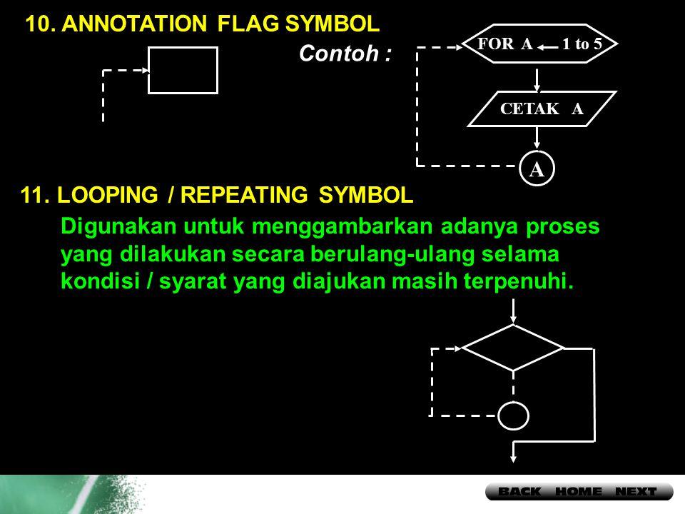 10. ANNOTATION FLAG SYMBOL