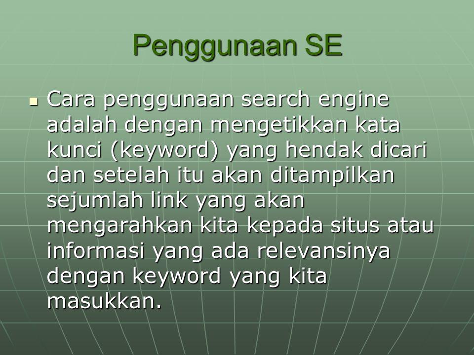 Penggunaan SE