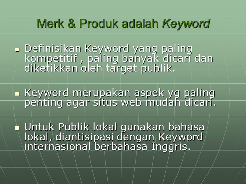 Merk & Produk adalah Keyword
