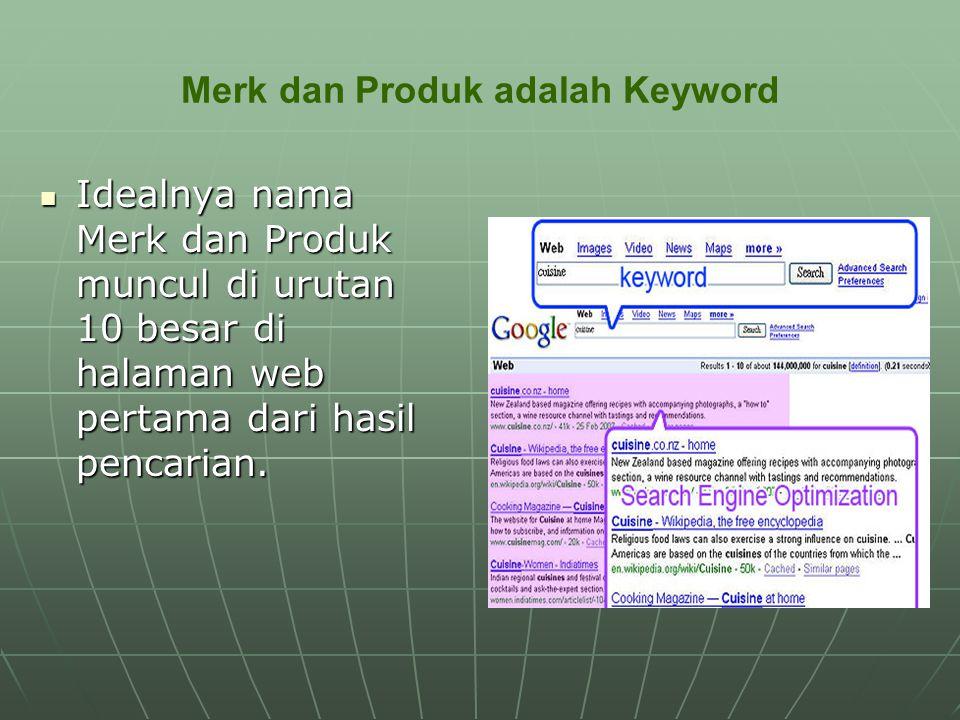 Merk dan Produk adalah Keyword
