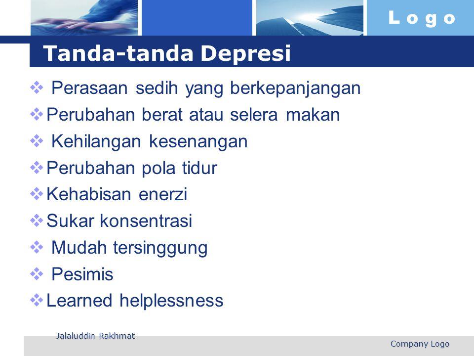 Tanda-tanda Depresi Perasaan sedih yang berkepanjangan
