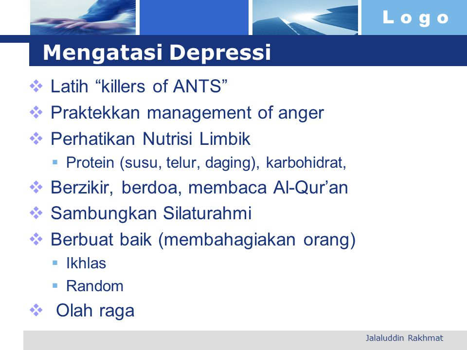 Mengatasi Depressi Latih killers of ANTS