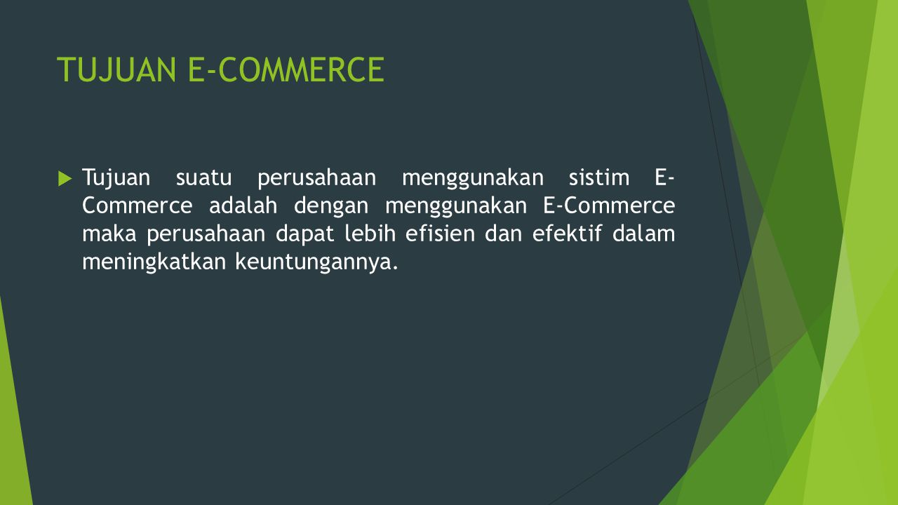 TUJUAN E-COMMERCE