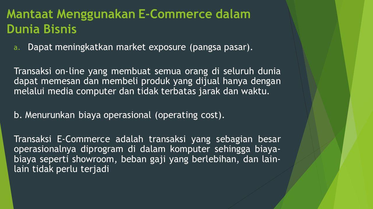 Mantaat Menggunakan E-Commerce dalam Dunia Bisnis