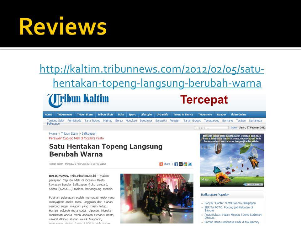 Reviews http://kaltim.tribunnews.com/2012/02/05/satu-hentakan-topeng-langsung-berubah-warna