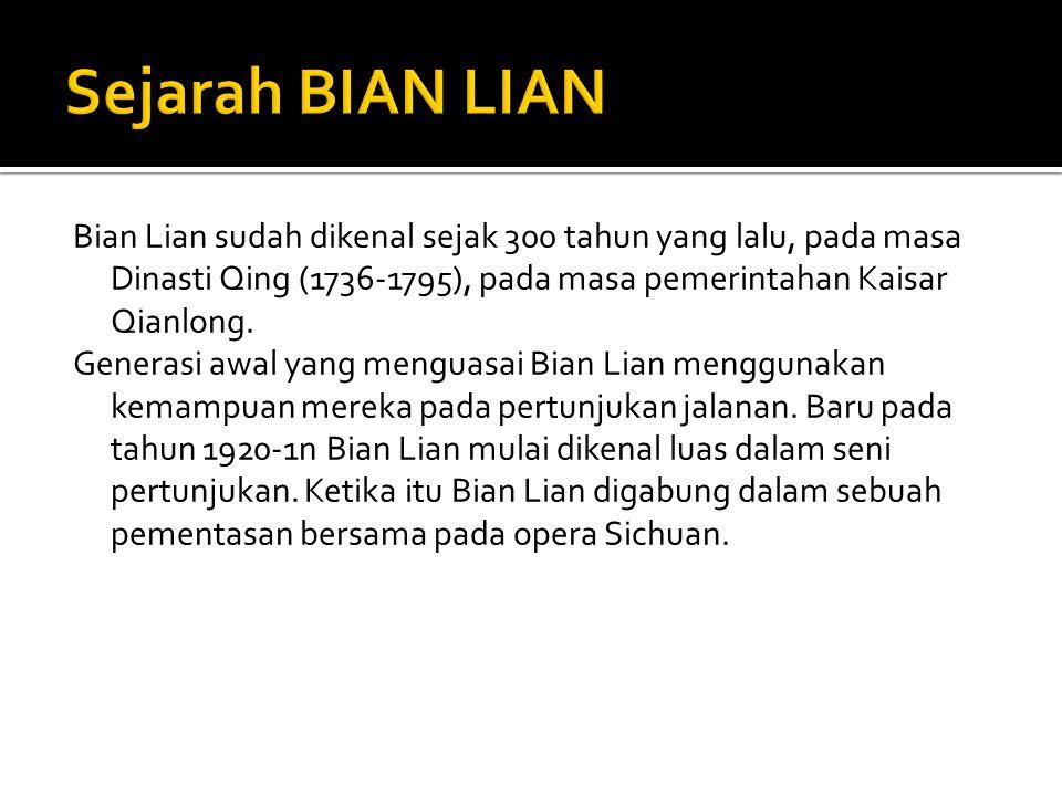 Sejarah BIAN LIAN