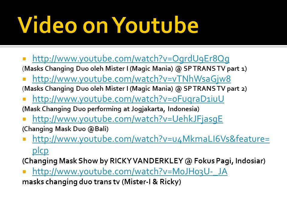 Video on Youtube http://www.youtube.com/watch v=OgrdU9Er8Qg