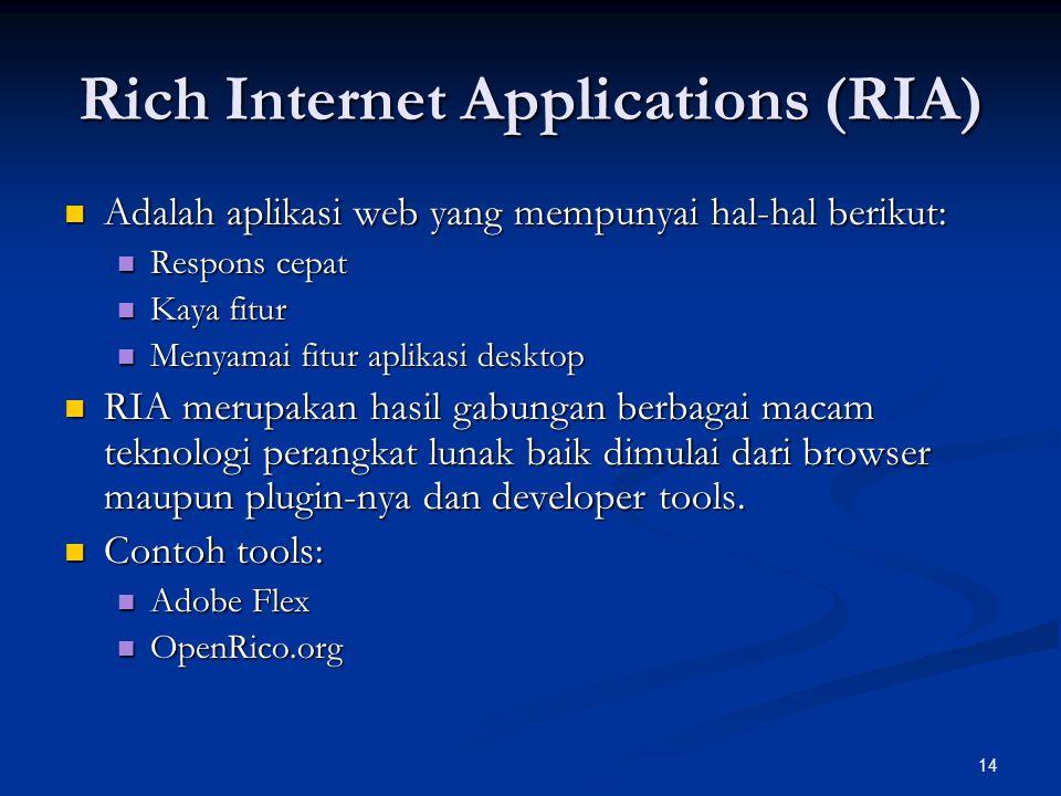 Rich Internet Applications (RIA)