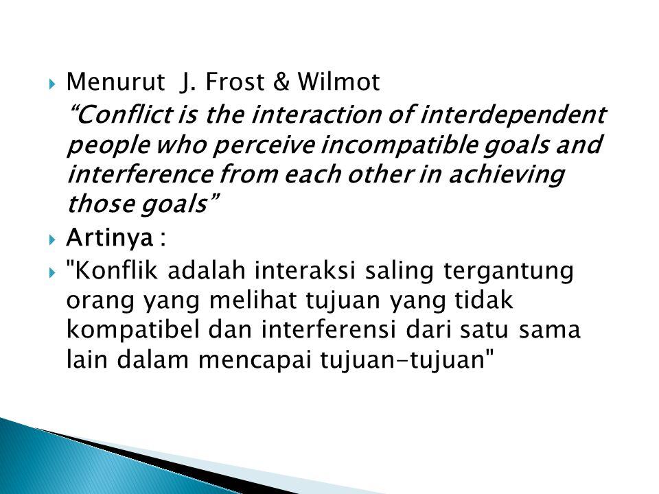 Menurut J. Frost & Wilmot