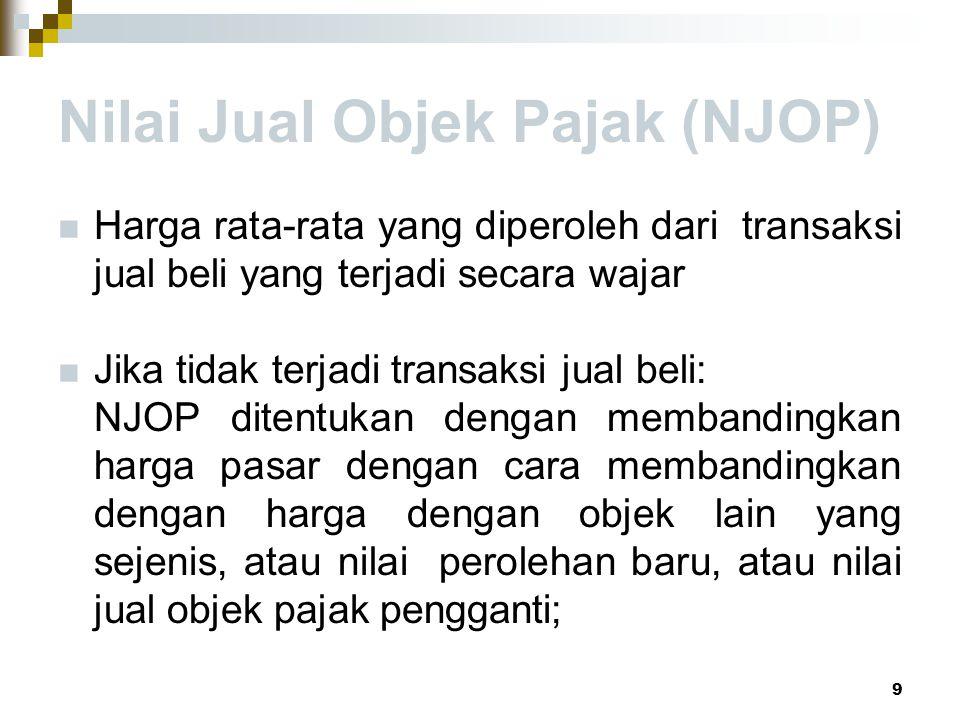 Nilai Jual Objek Pajak (NJOP)