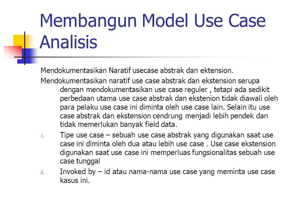 Membangun Model Use Case Analisis