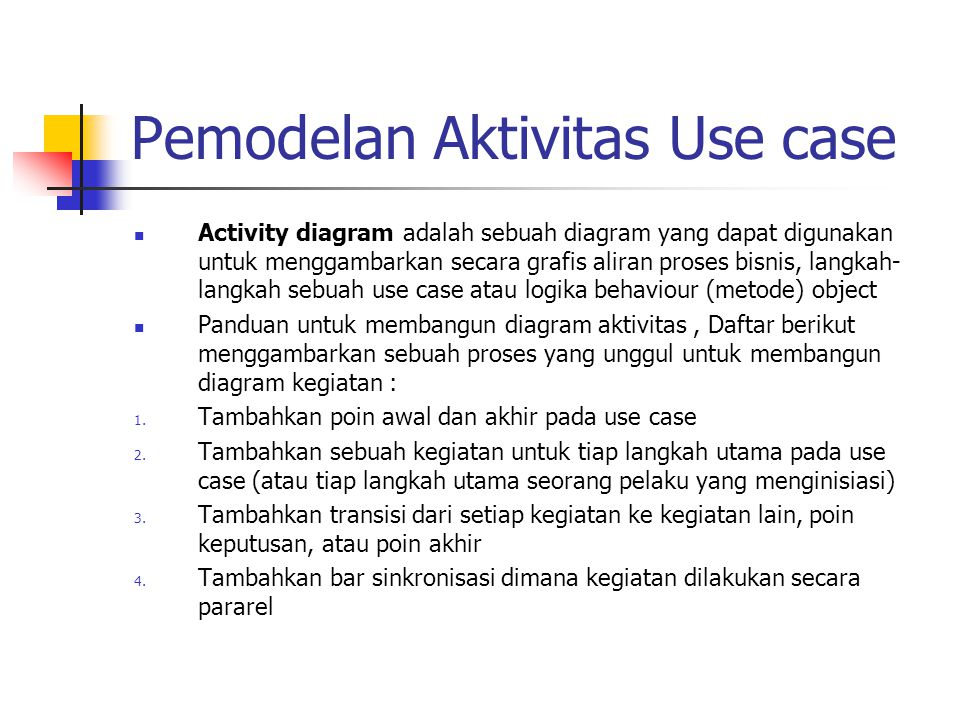 Pemodelan Aktivitas Use case