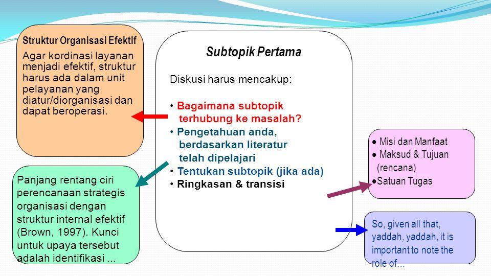 Struktur Organisasi Efektif
