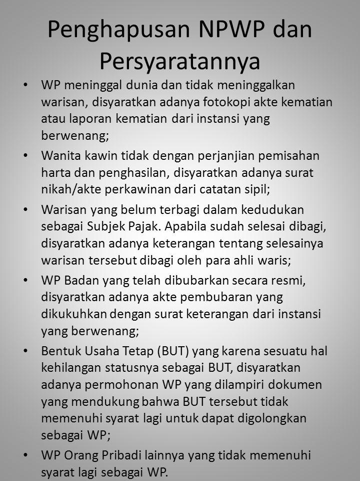 Penghapusan NPWP dan Persyaratannya