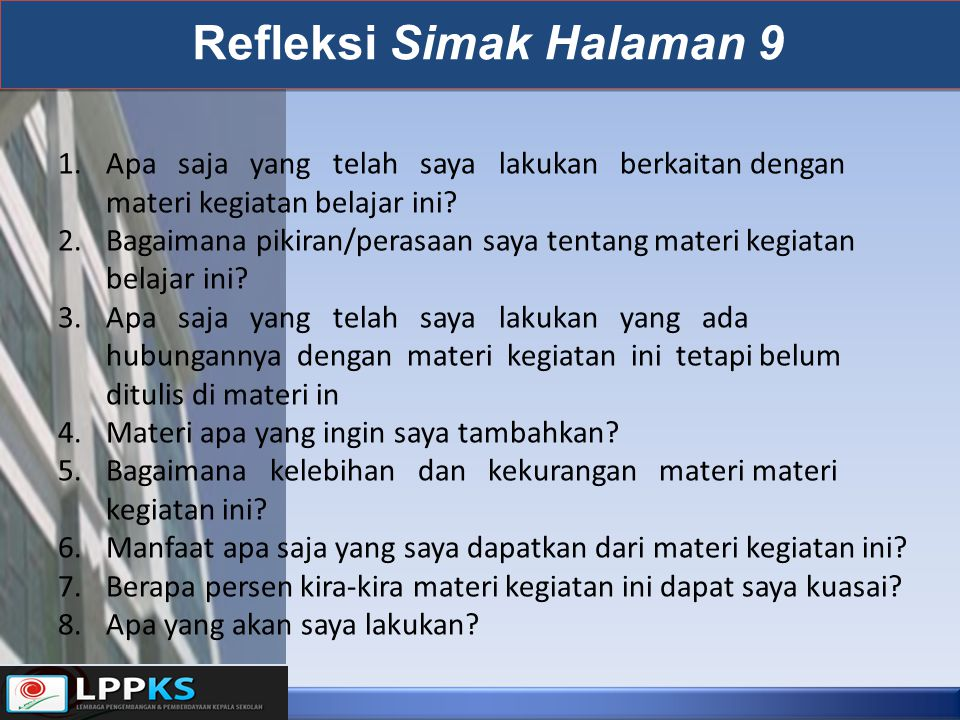 Refleksi Simak Halaman 9