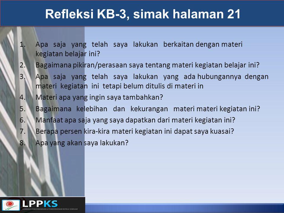 Refleksi KB-3, simak halaman 21
