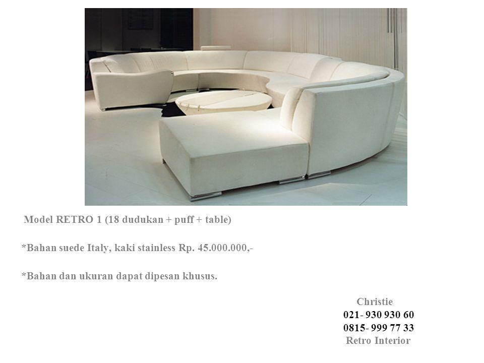 Model RETRO 1 (18 dudukan + puff + table)