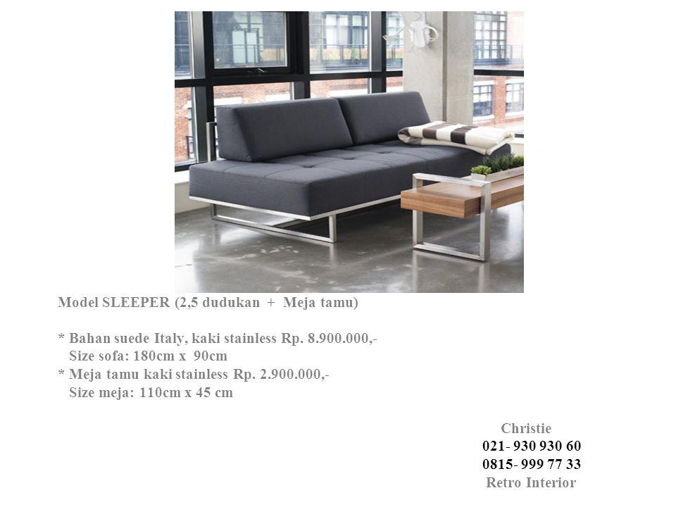 Model SLEEPER (2,5 dudukan + Meja tamu)