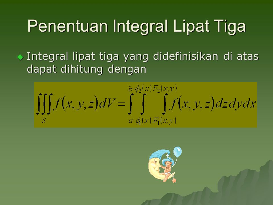Penentuan Integral Lipat Tiga