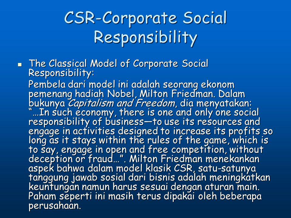 CSR-Corporate Social Responsibility