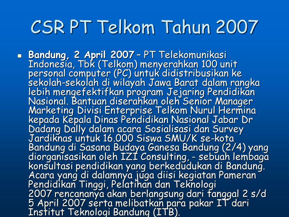 4/11/2017 CSR PT Telkom Tahun 2007.