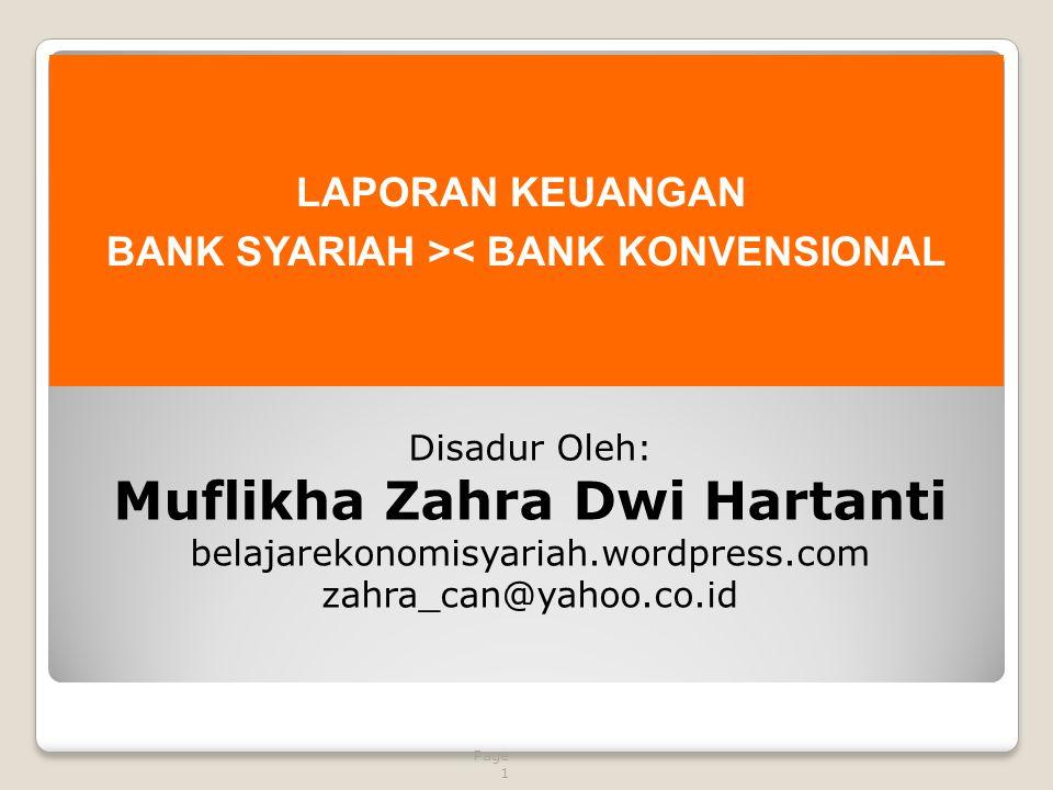 BANK SYARIAH >< BANK KONVENSIONAL Muflikha Zahra Dwi Hartanti