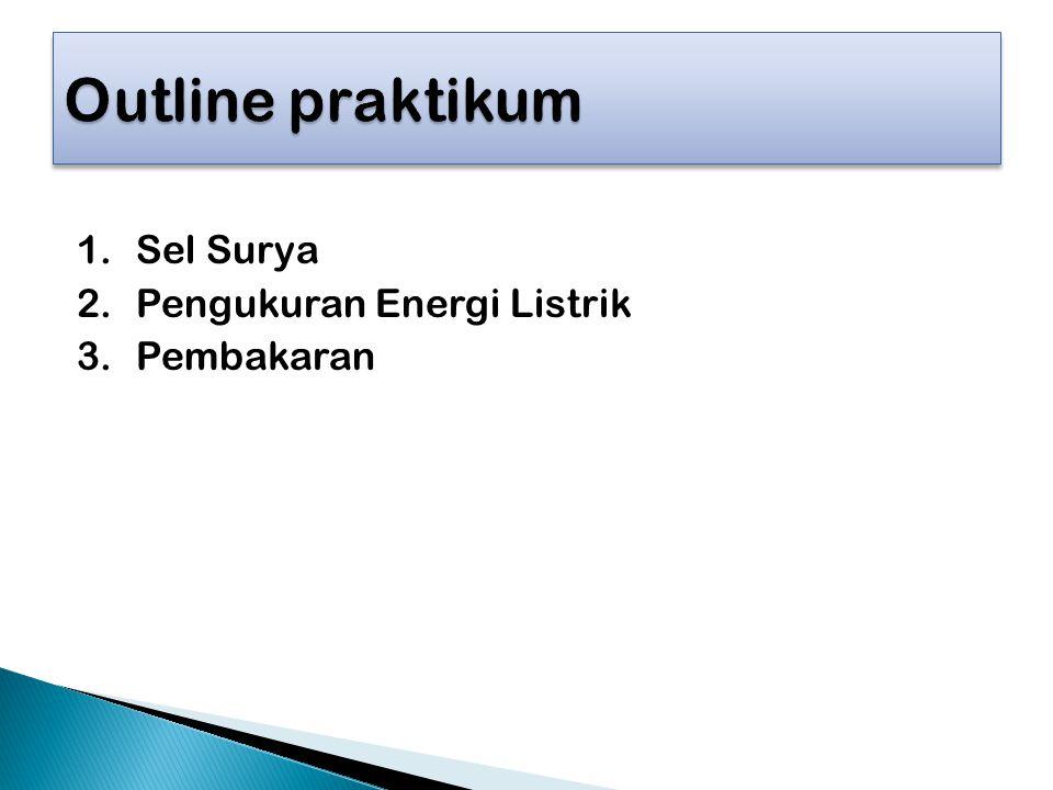 Outline praktikum Sel Surya Pengukuran Energi Listrik Pembakaran