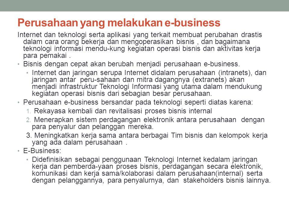 Perusahaan yang melakukan e-business