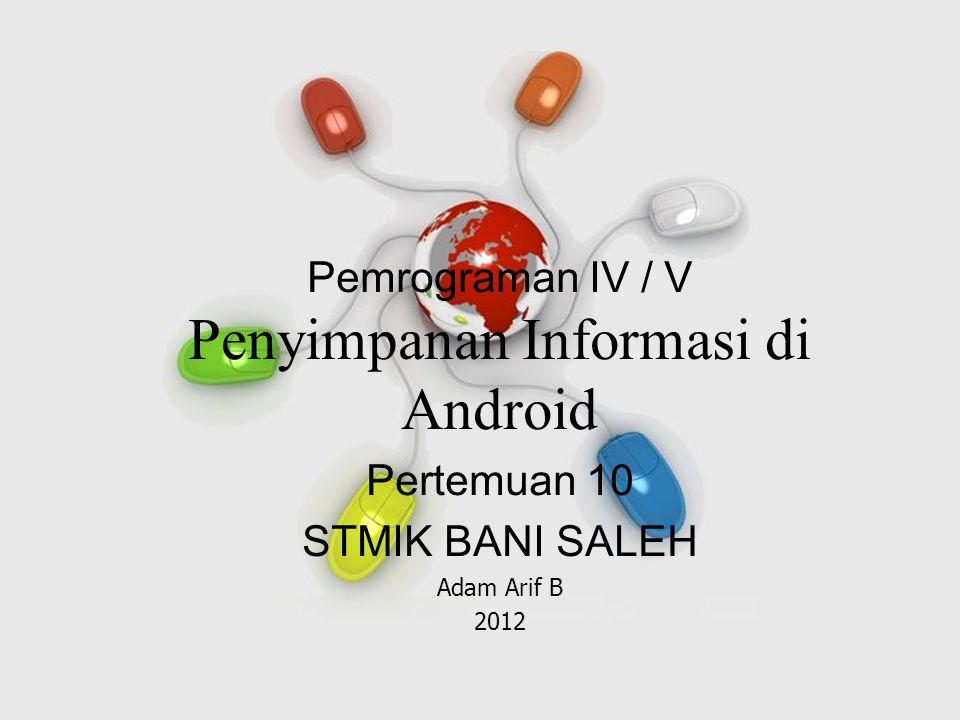 Penyimpanan Informasi di Android
