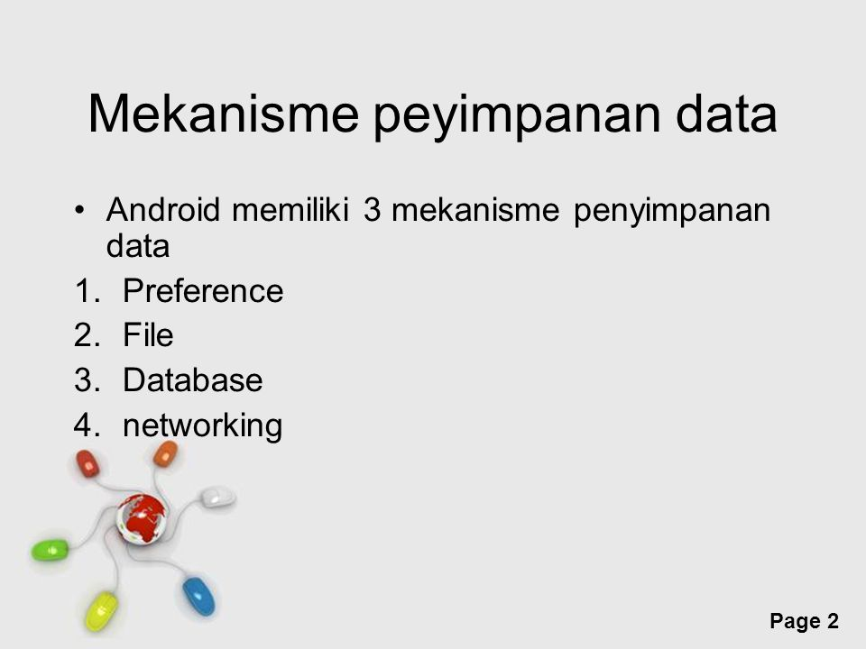 Mekanisme peyimpanan data