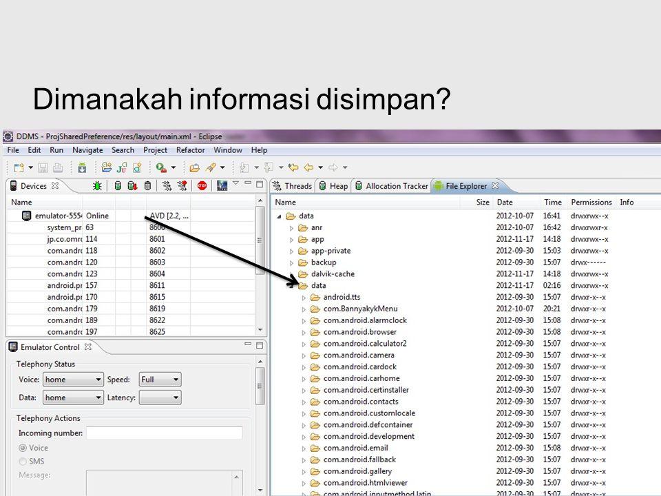 Dimanakah informasi disimpan