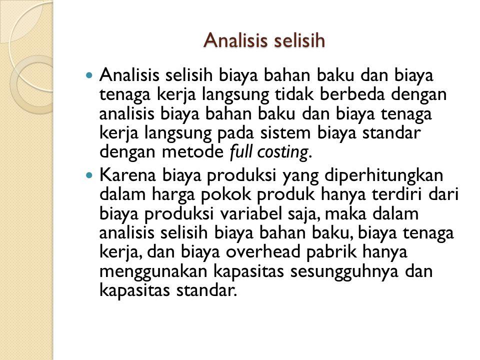 Analisis selisih