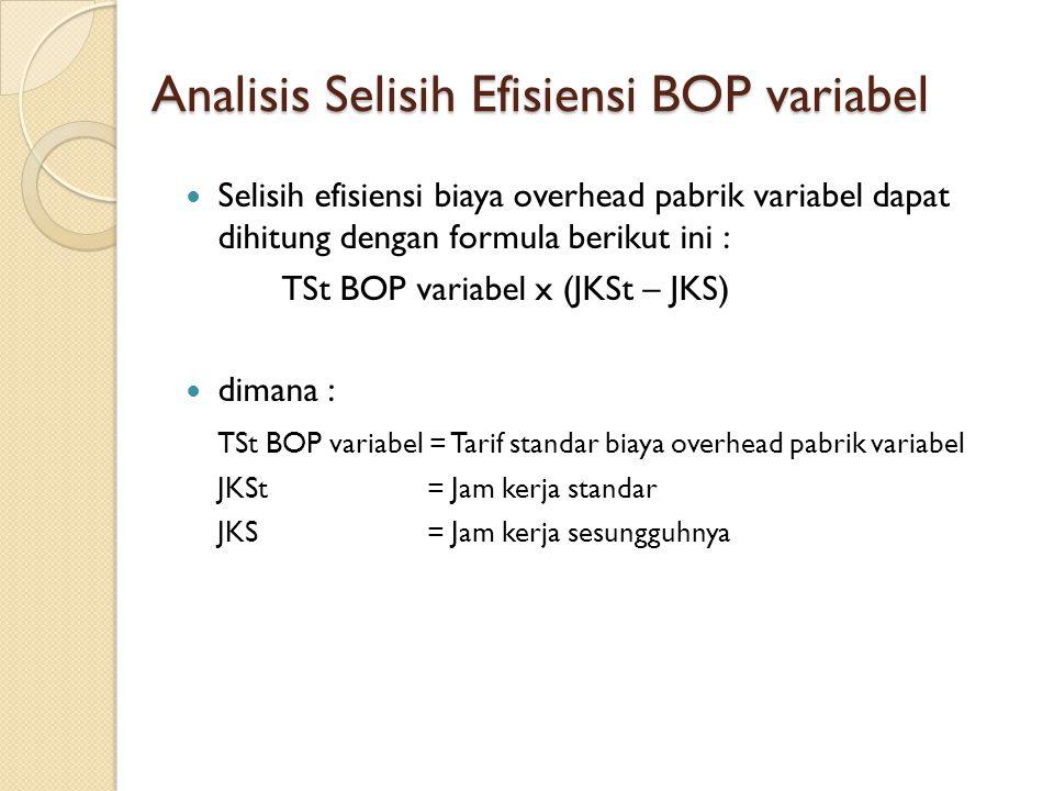 Analisis Selisih Efisiensi BOP variabel