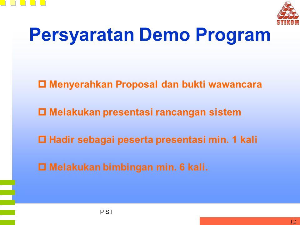 Persyaratan Demo Program
