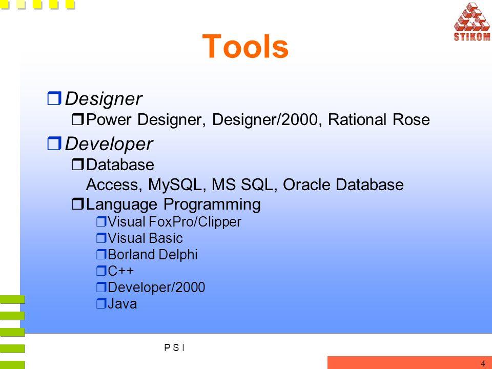 Tools Designer Developer Power Designer, Designer/2000, Rational Rose