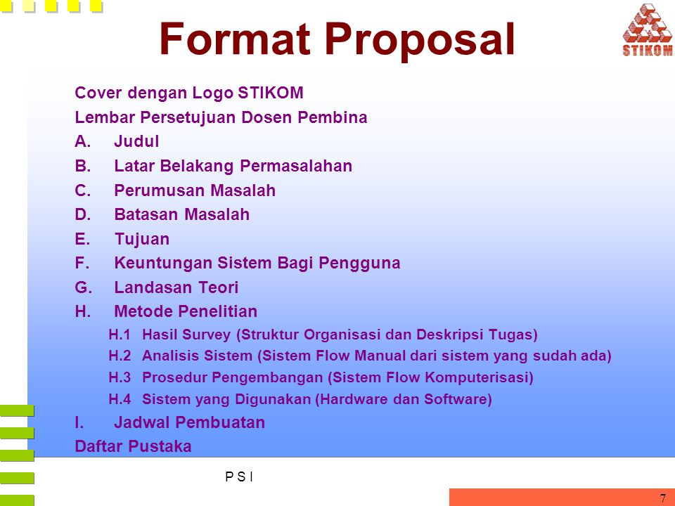 Format Proposal Cover dengan Logo STIKOM