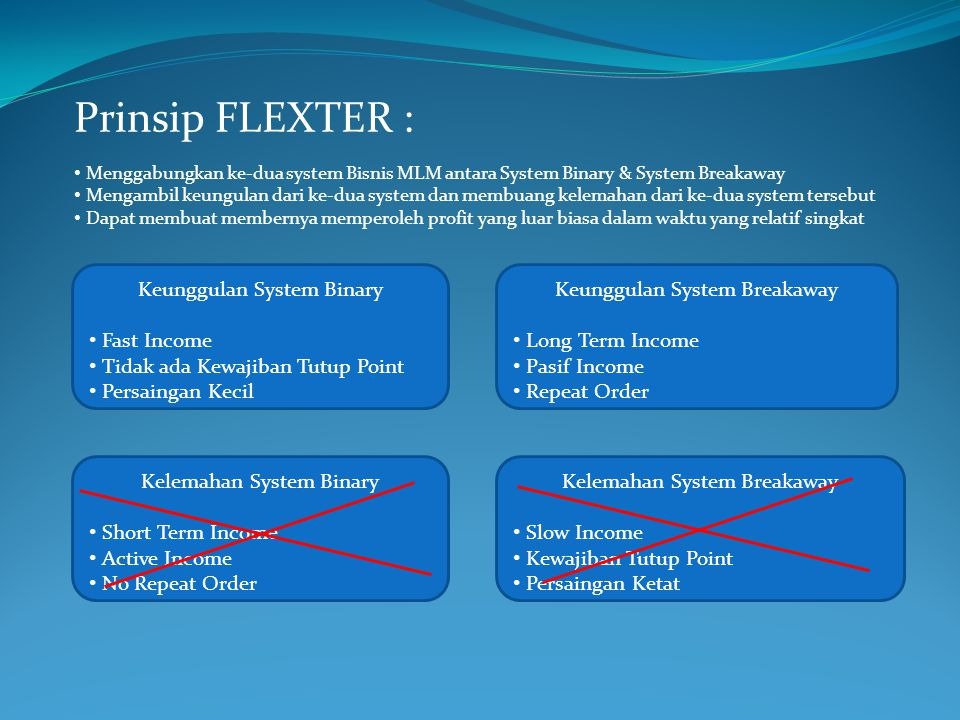 Prinsip FLEXTER : Keunggulan System Binary Fast Income
