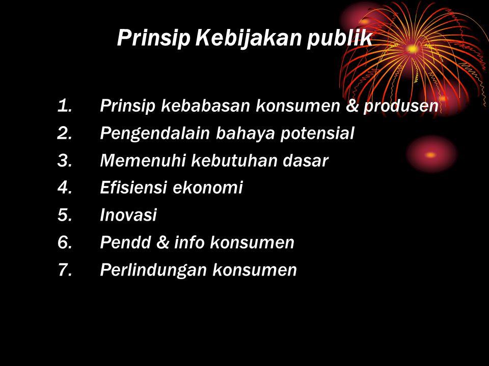 Prinsip Kebijakan publik