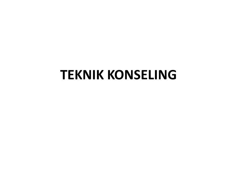 TEKNIK KONSELING