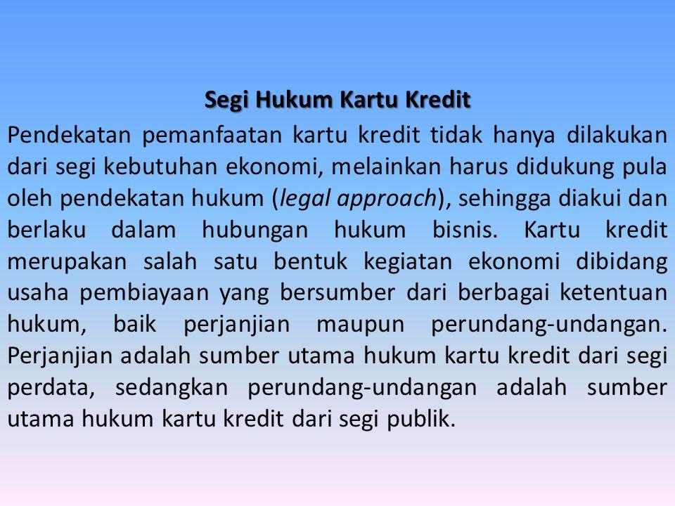 Segi Hukum Kartu Kredit