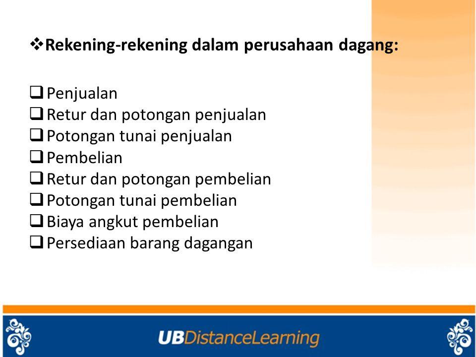Rekening-rekening dalam perusahaan dagang: