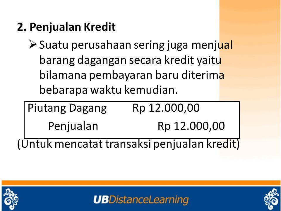 2. Penjualan Kredit