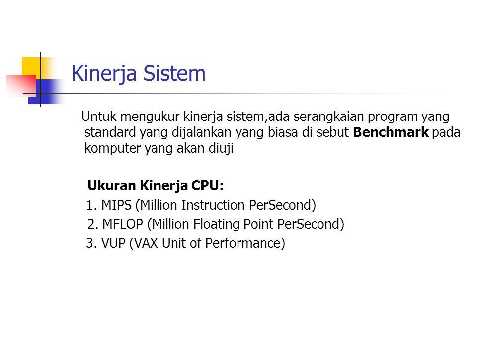 Kinerja Sistem Ukuran Kinerja CPU: