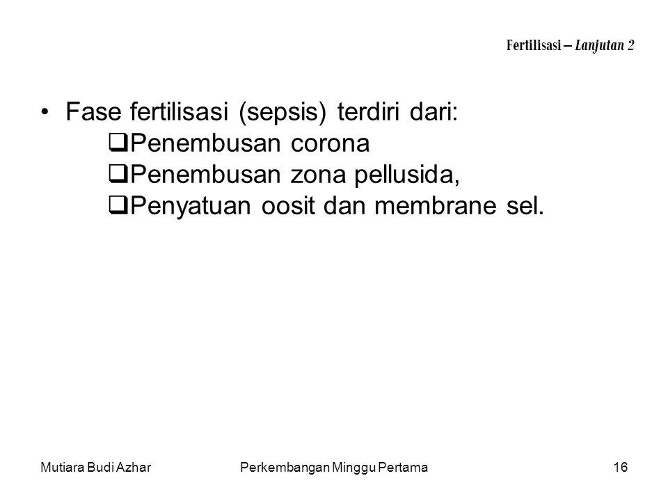 Fertilisasi – Lanjutan 2